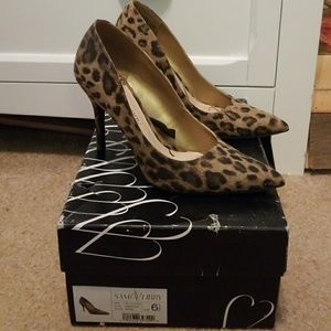 Sam & Libby Leopard Heels 6.5